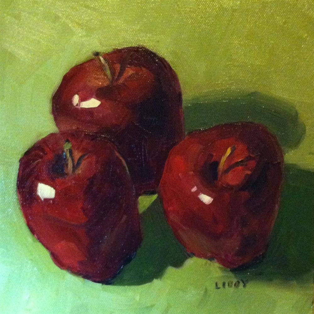 """Three Apples"" original fine art by Libby Anderson"