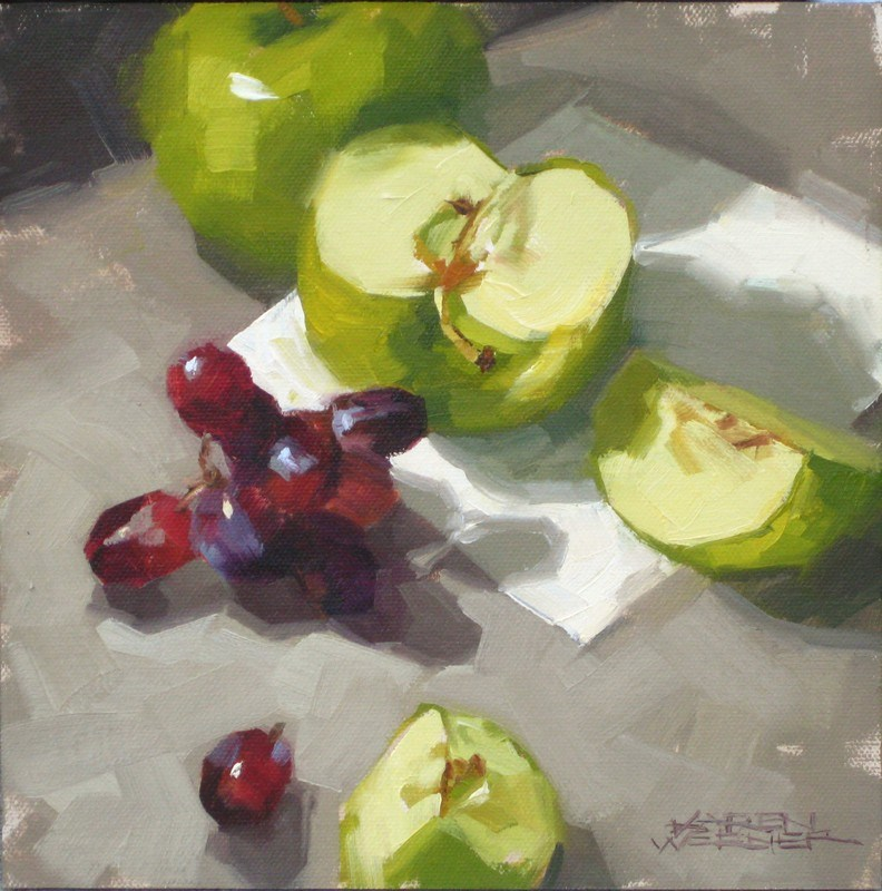 """Grapes & Granny "" original fine art by Karen Werner"