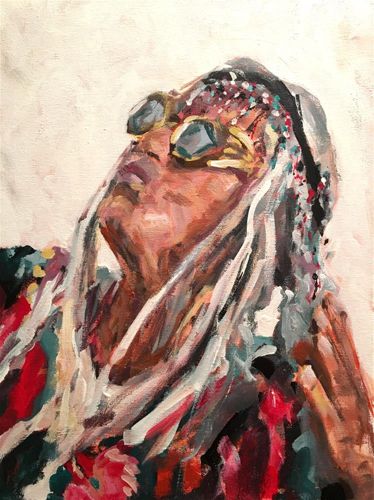 """Mongo"" original fine art by Susan Elizabeth Jones"