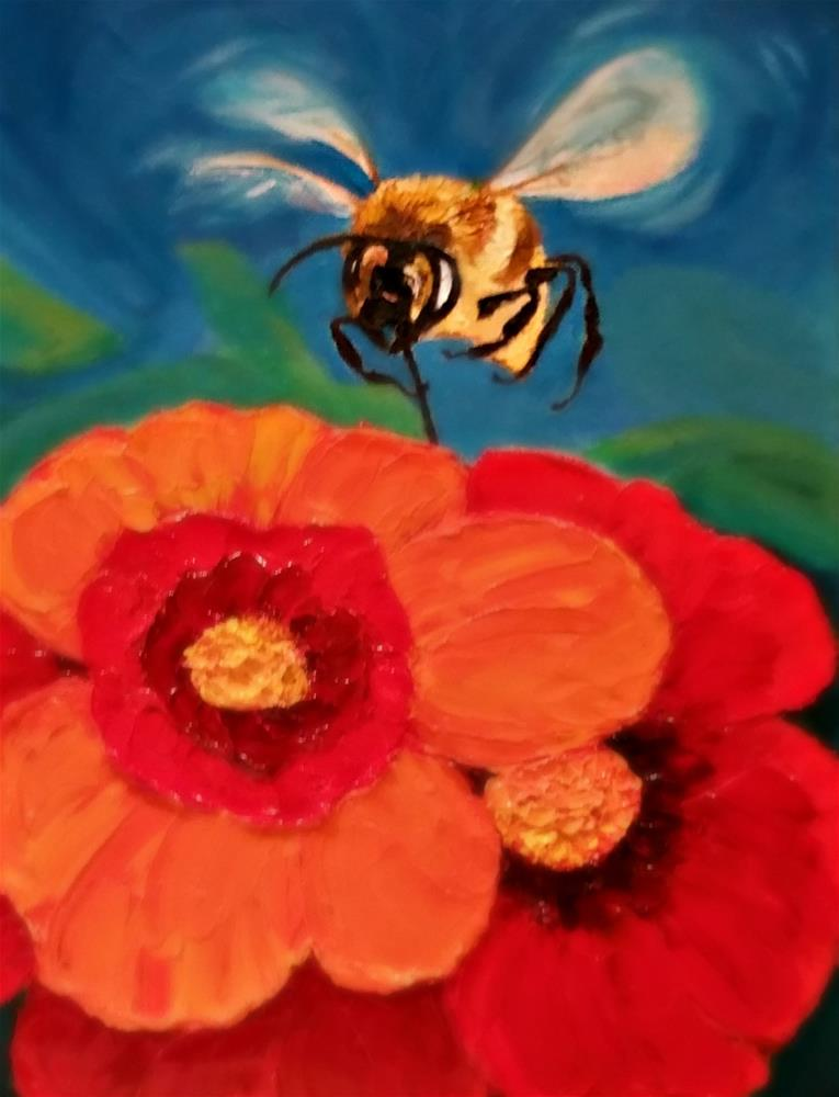 """BEE 2"" original fine art by Dana C"