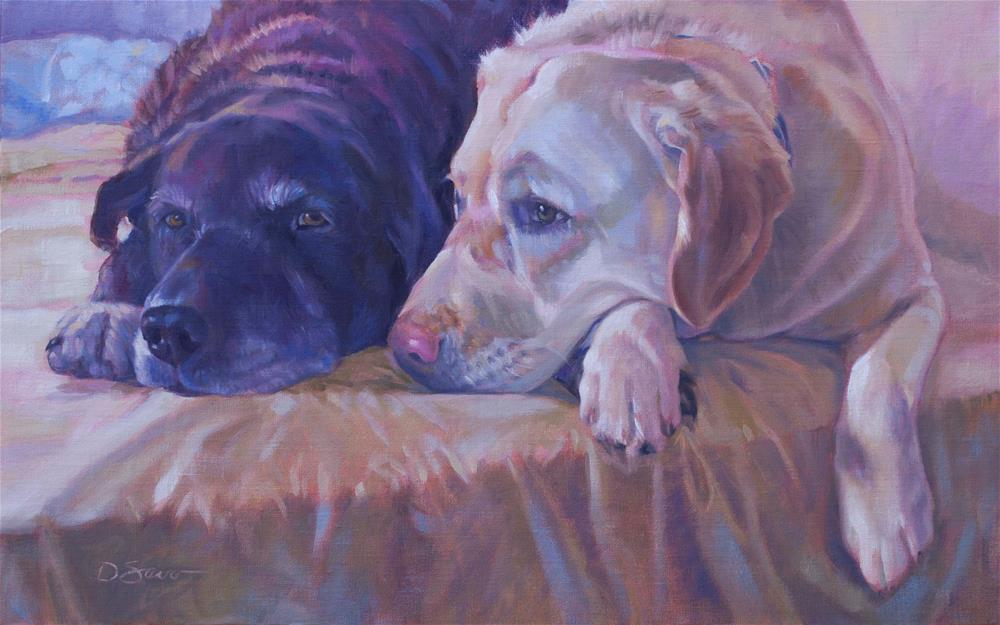 """Shandy & DeeDee"" original fine art by Deborah Savo"