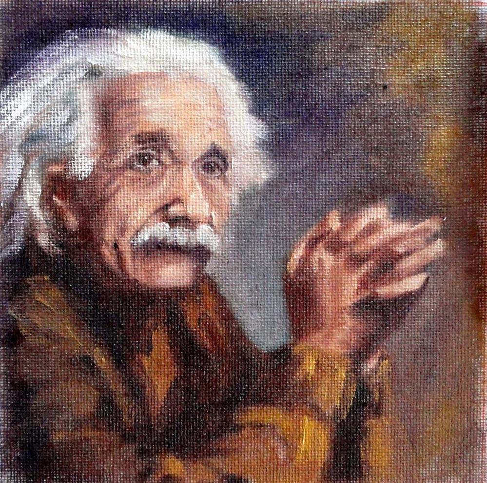 """""""Einstein Challenge"""" original fine art by Cietha Wilson"""