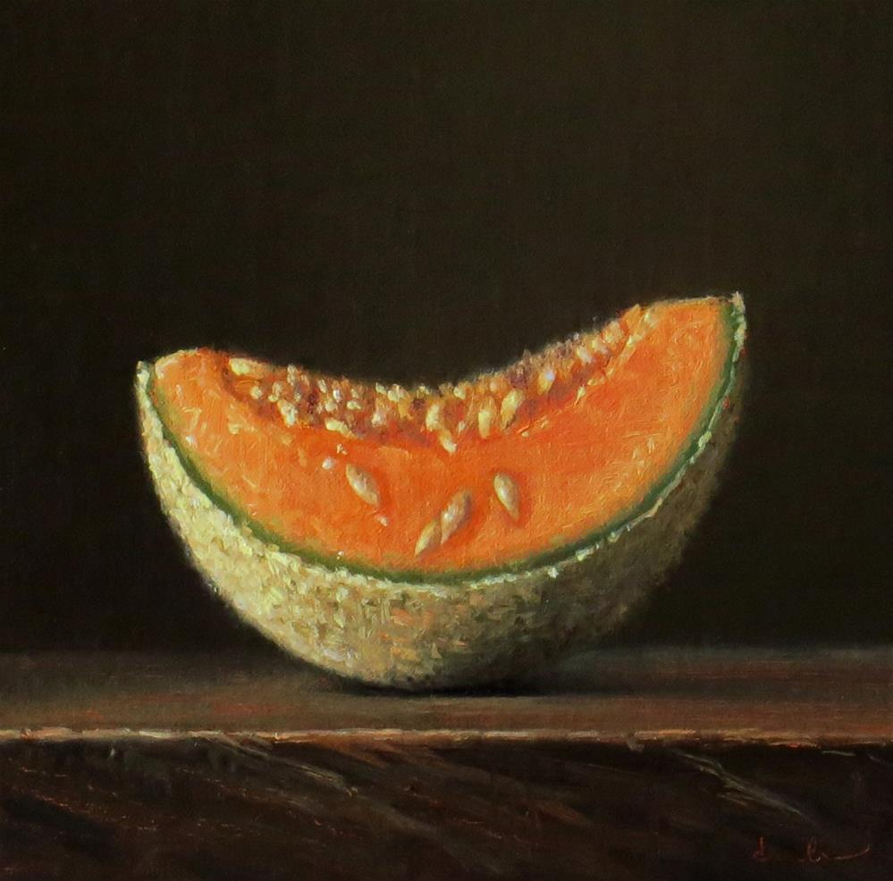 """Melon Slice"" original fine art by Darla McDowell"