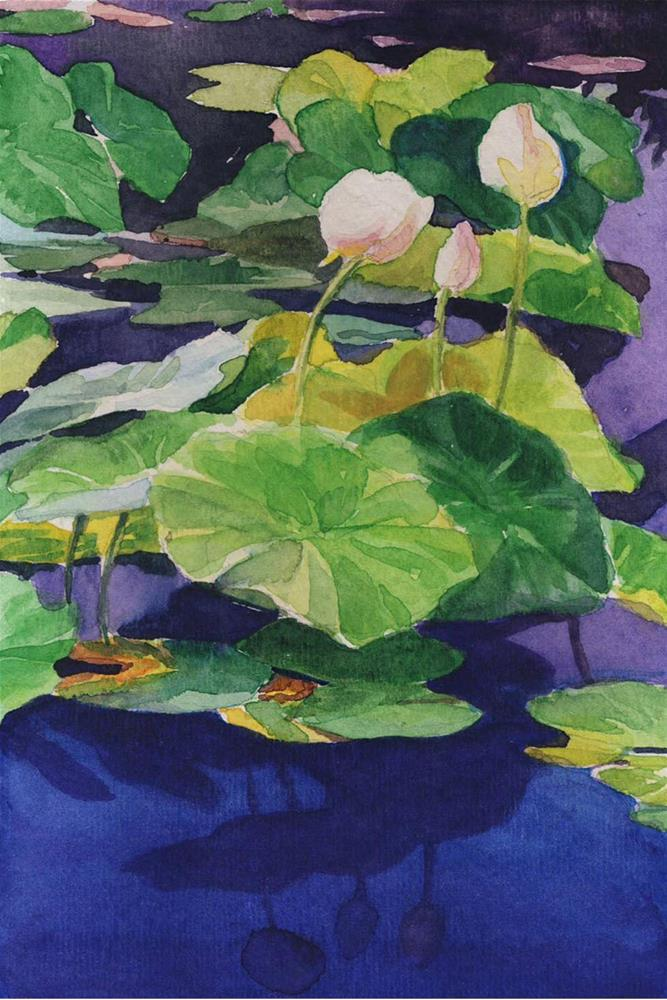 """Water Lily at The Gardens"" original fine art by Shawn Shea"