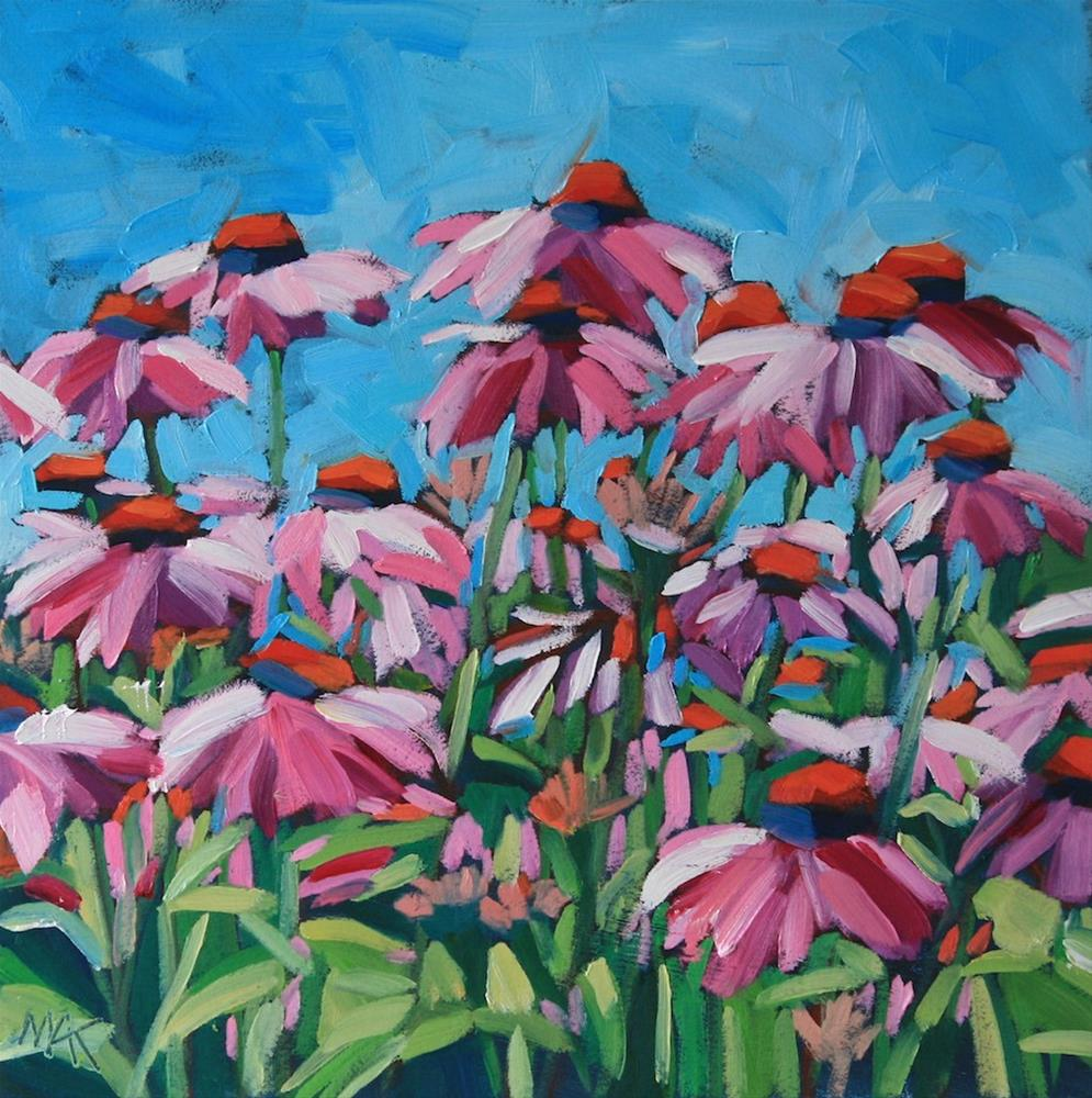 """Pink Coneflowers 2"" original fine art by Mary Anne Cary"