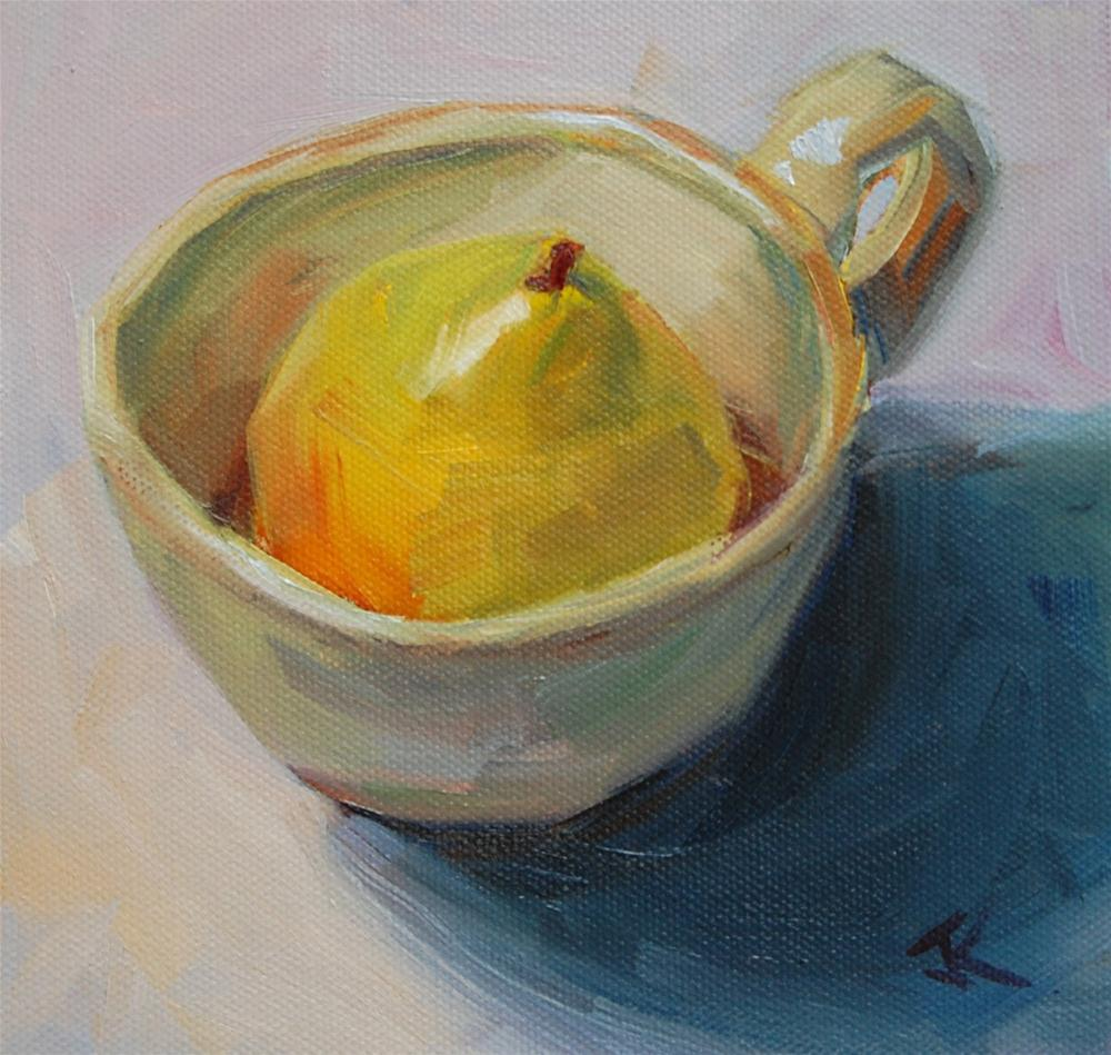 """Pearfect Fit"" original fine art by Julie Kirkland"