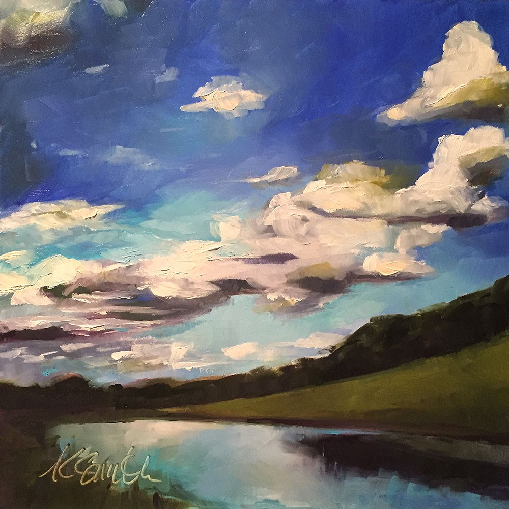 """seeing for miles"" original fine art by Kim Smith"