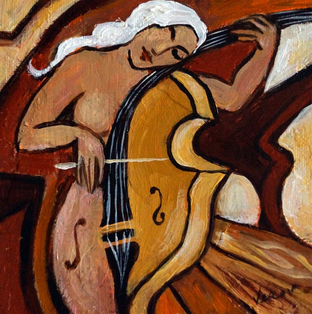 """Cellist"" original fine art by Valerie Vescovi"