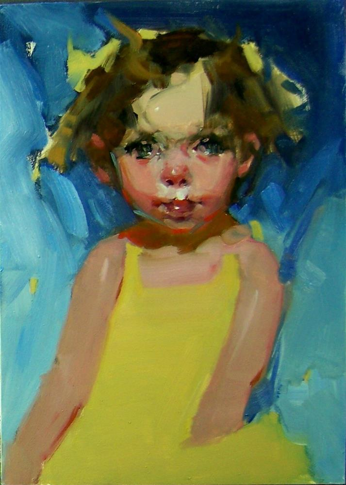 """Mommy's Girl"" original fine art by Kim Roberti"