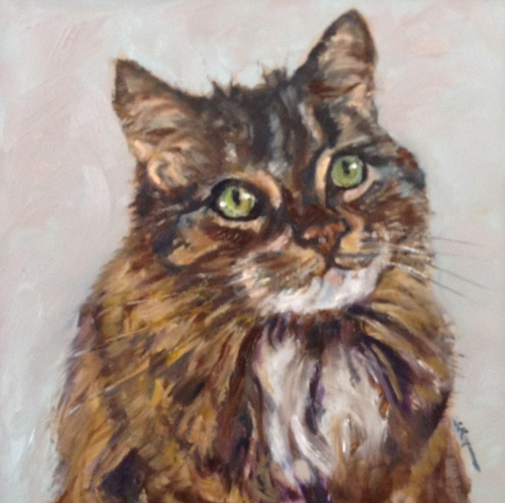 """""""Katie the Kitty"""" original fine art by Shelley Koopmann"""