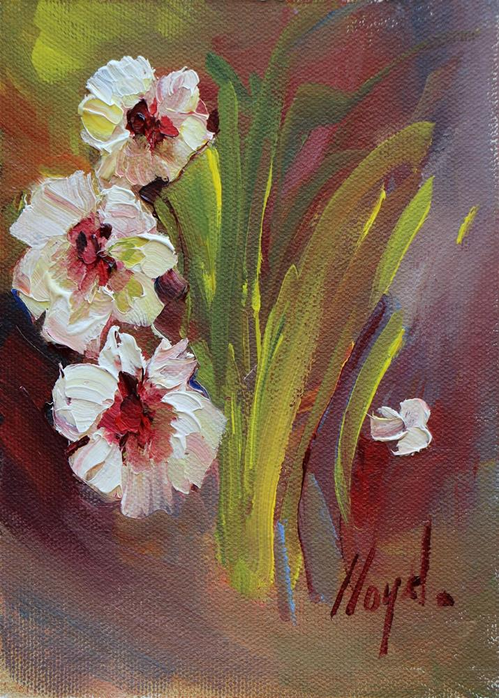 """Three Flowers and a Petal"" original fine art by Diane Lloyd"