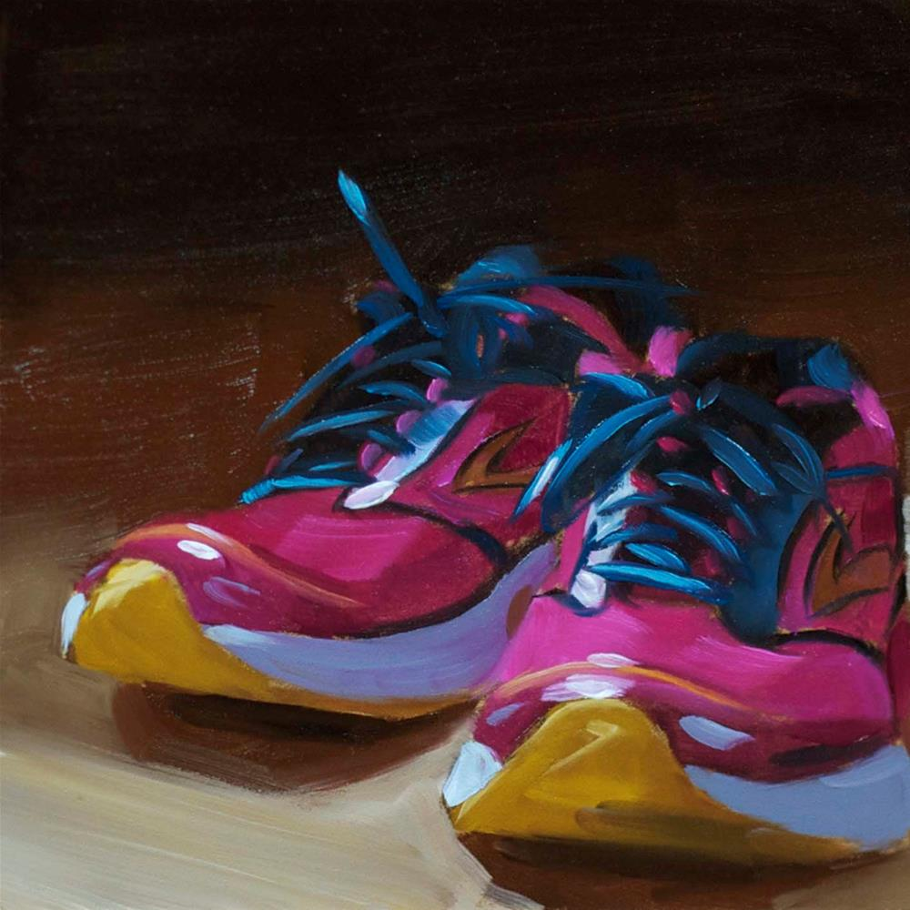 """Running Shoes"" original fine art by Heather Bullach"