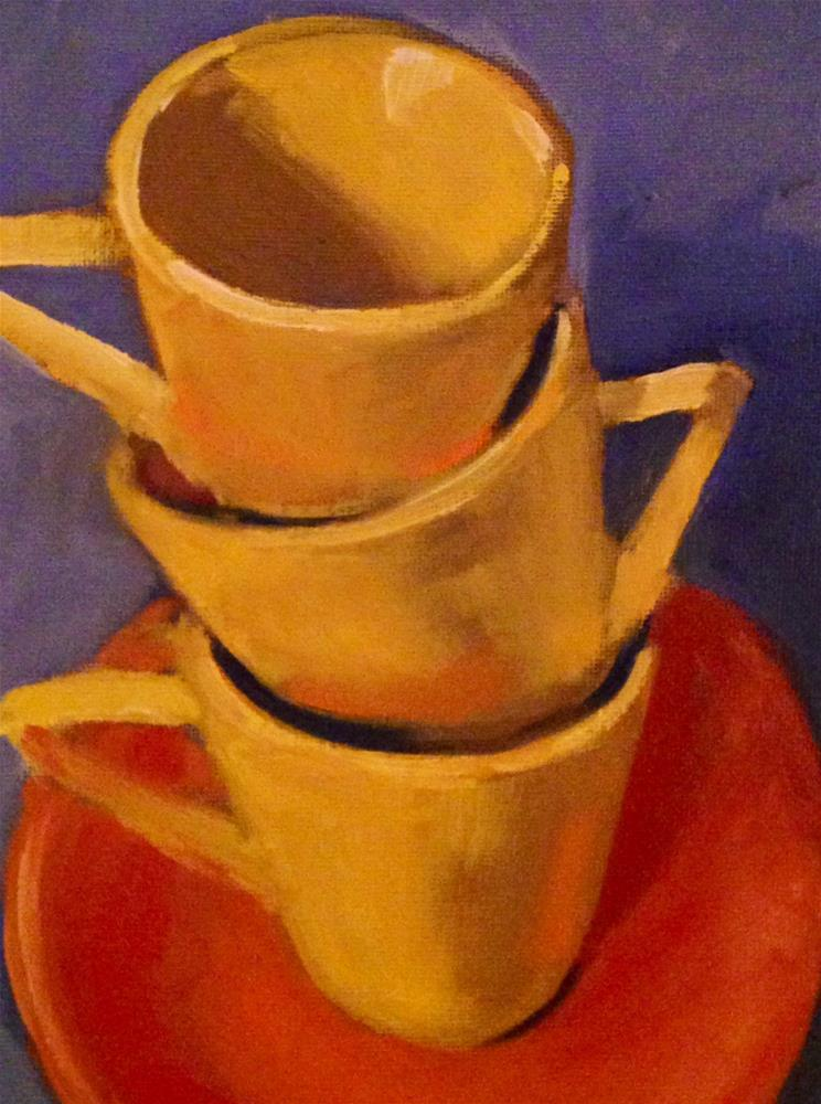 """Cups Galore"" original fine art by Patty Voje"