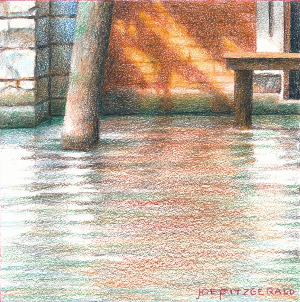 """Venetian Posts III"" original fine art by Joe Fitzgerald"