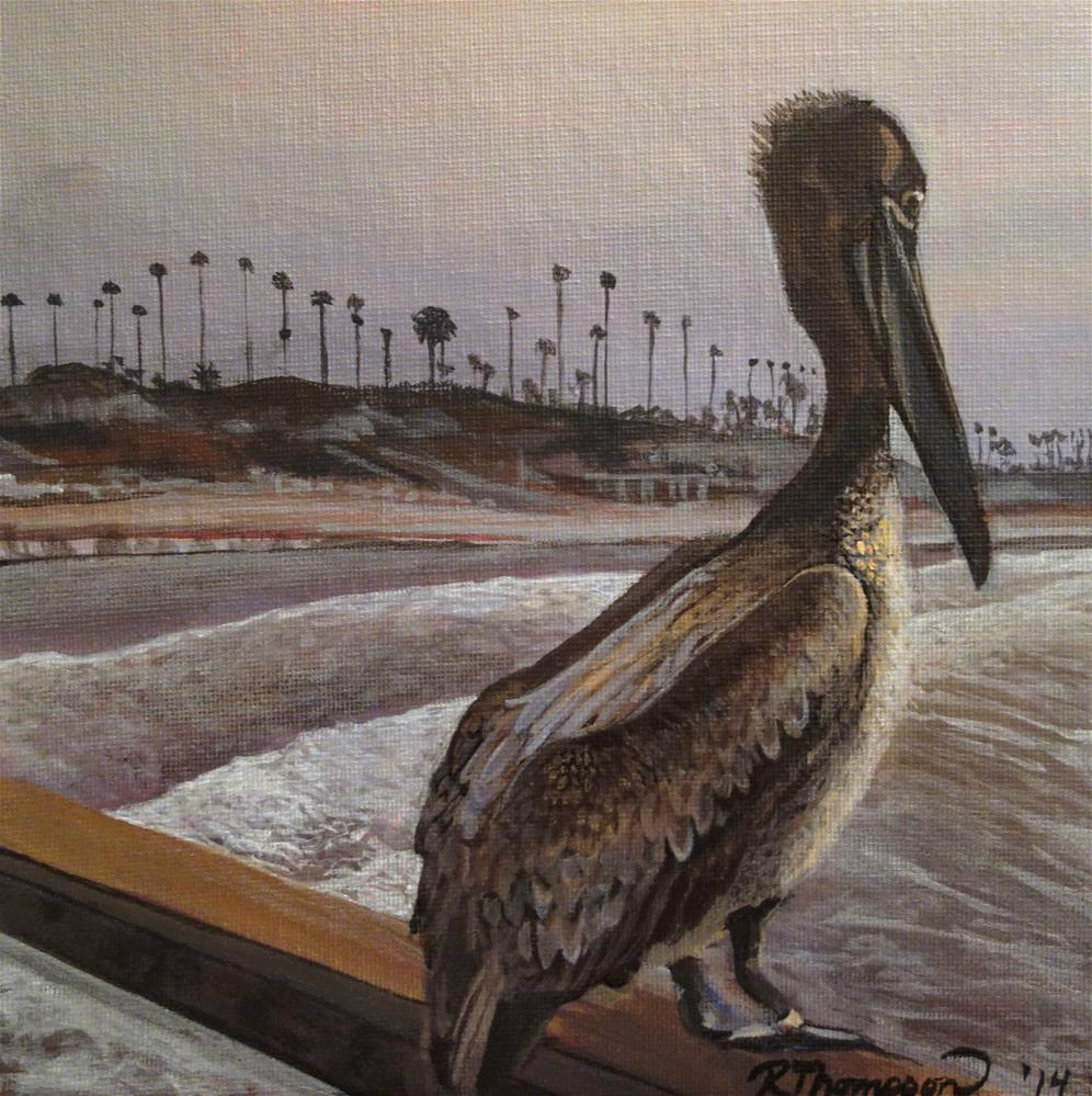 """Pelican"" original fine art by Rachel Thompson"