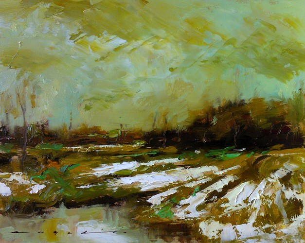 """Snow Fields_005"" original fine art by Angel Angelov"