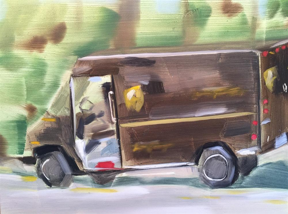 """271 Special Delivery"" original fine art by Jenny Doh"