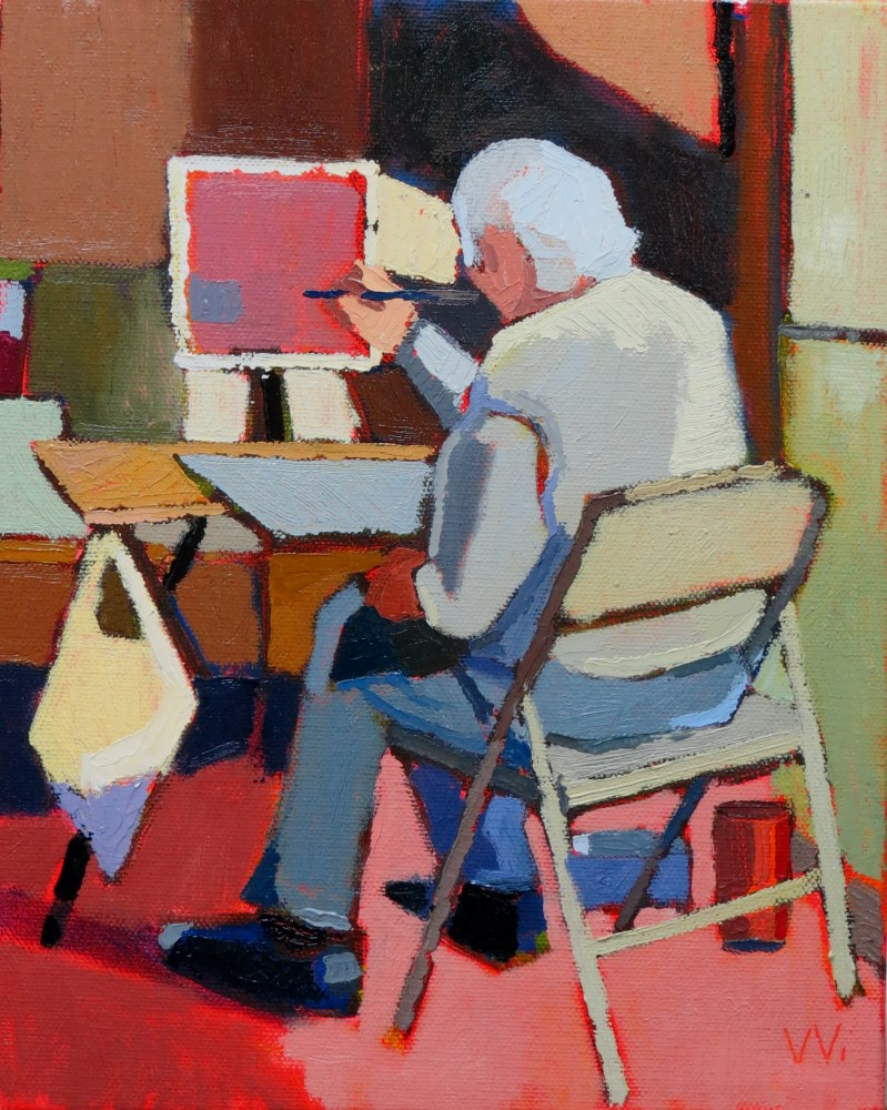 """Painter"" original fine art by Joan Wiberg"