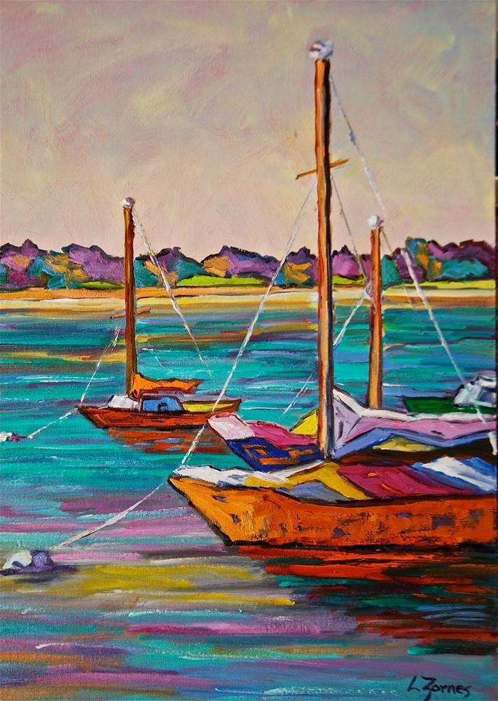 """Waiting to Sail"" original fine art by Liz Zornes"