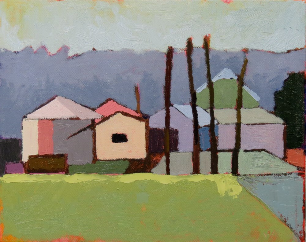 """Silver Ridge Farm"" original fine art by Joan Wiberg"