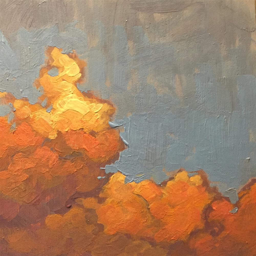 """Cloud Study XI"" original fine art by Chris Long"