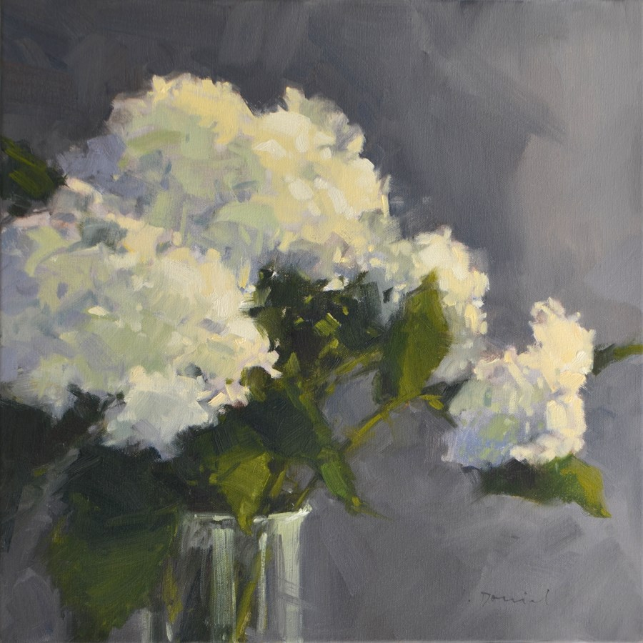 """Hydrangea Bouquet"" original fine art by Laurel Daniel"