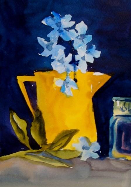 """left hand flowers"" original fine art by Kathy Los-Rathburn"