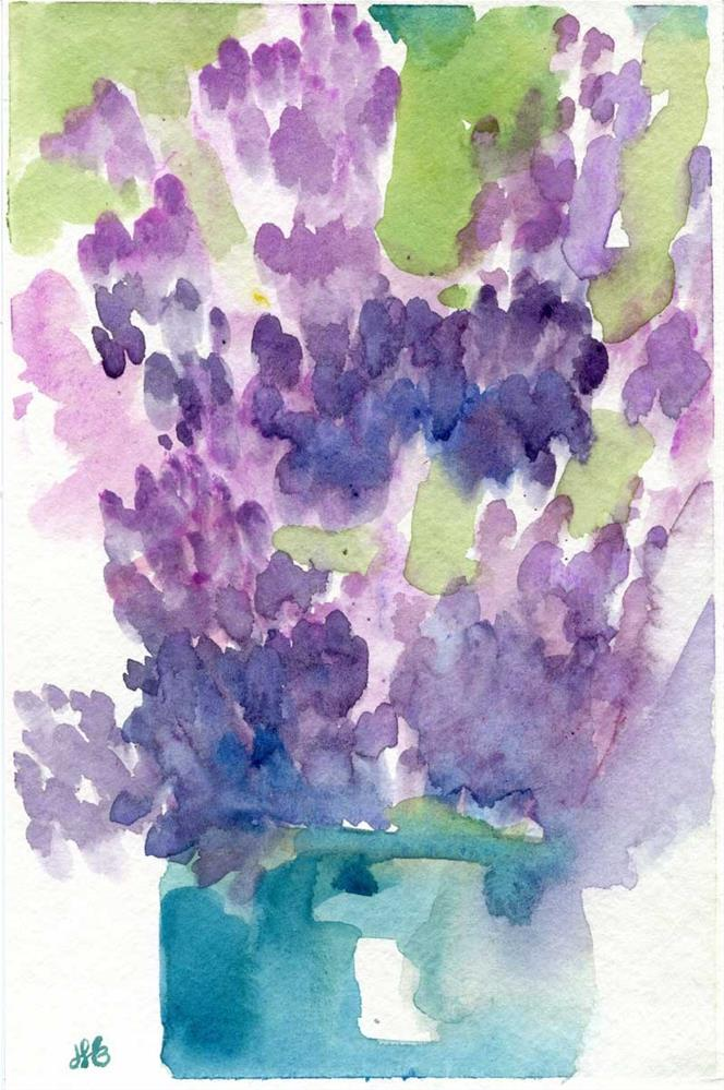 """Flowers for Penelope"" original fine art by Heather Bennett"
