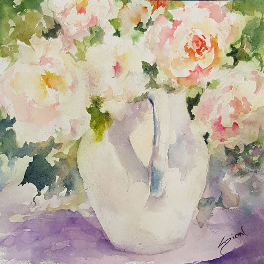 """Sweetness and Light"" original fine art by Sue Dion"