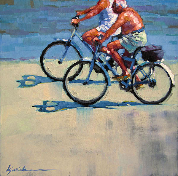 """Freewheelers"" original fine art by Karin Jurick"