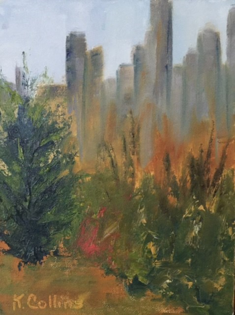 """Riding Through Central Park"" original fine art by Kathy Collins"