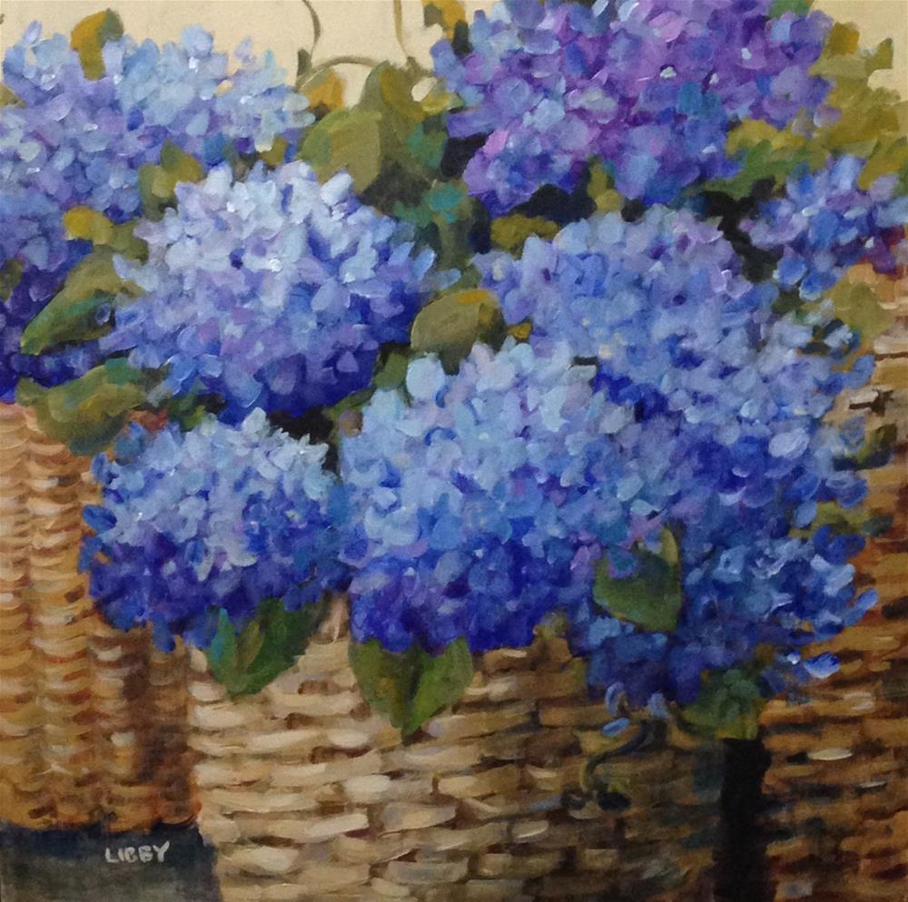 """Primary Blue"" original fine art by Libby Anderson"