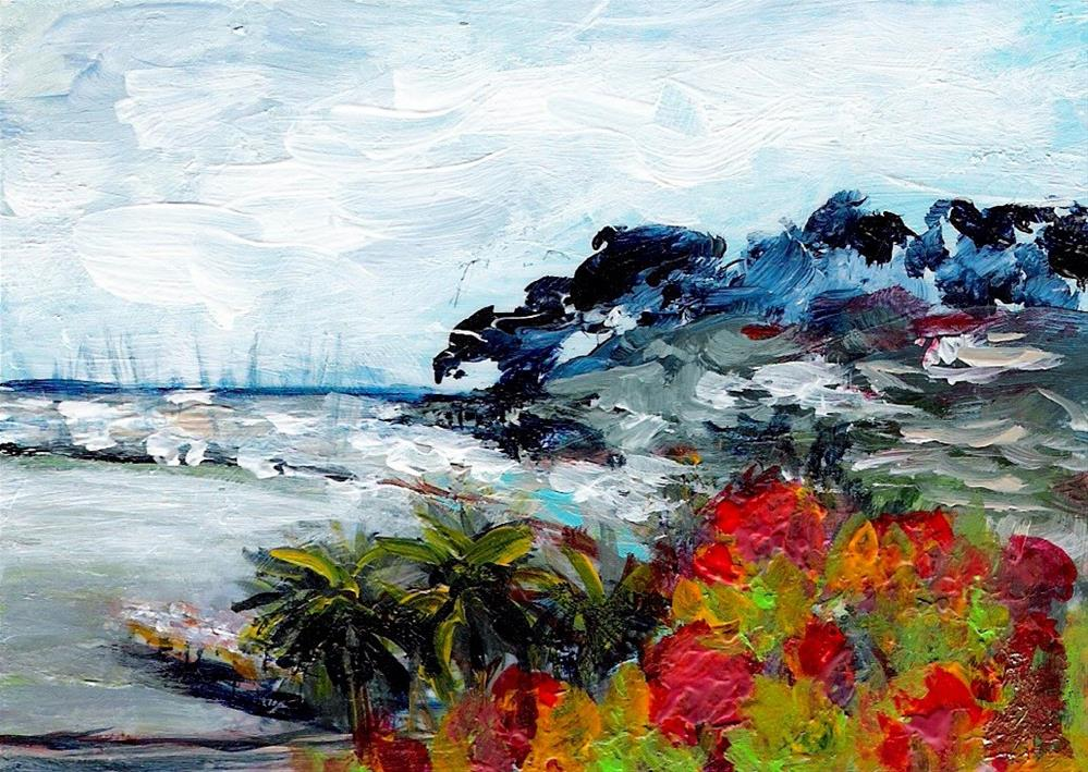 """3194 - MARINA BAY - ACEO Series"" original fine art by Sea Dean"