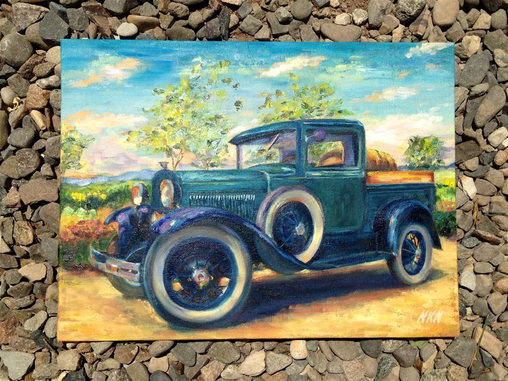 """1931 FORD MODEL A PICKUP"" original fine art by Nina K. Nuanes"