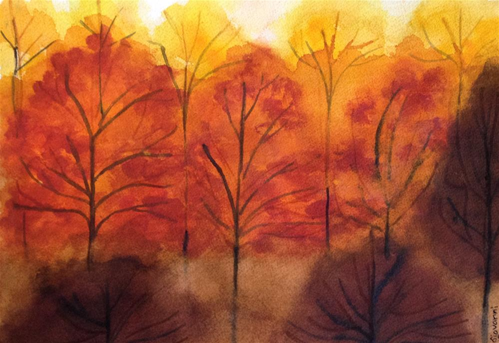 """A beautiful fall evening"" original fine art by Giovanni Antunez"
