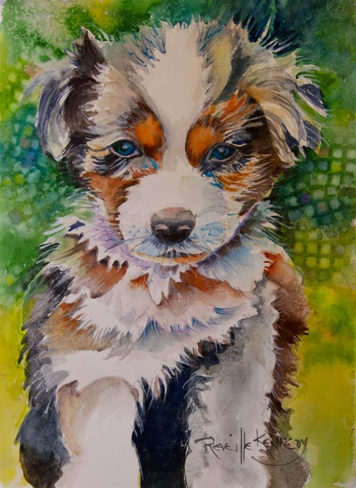 """Puppy Face"" original fine art by Reveille Kennedy"