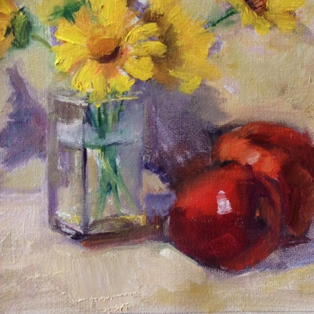 """May Showers bring June Flowers"" original fine art by Carol Josefiak"