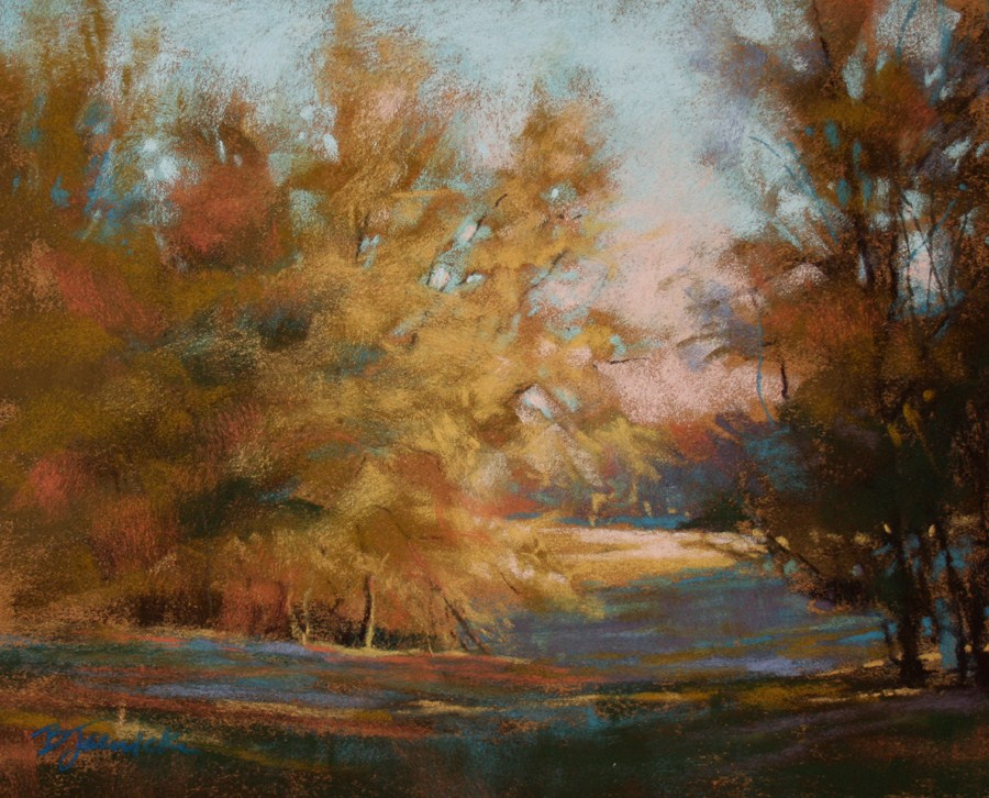 """Sunlit Pasture"" original fine art by Barbara Jaenicke"