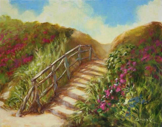 """""""Beach Steps"""" original fine art by Sue Cervenka"""