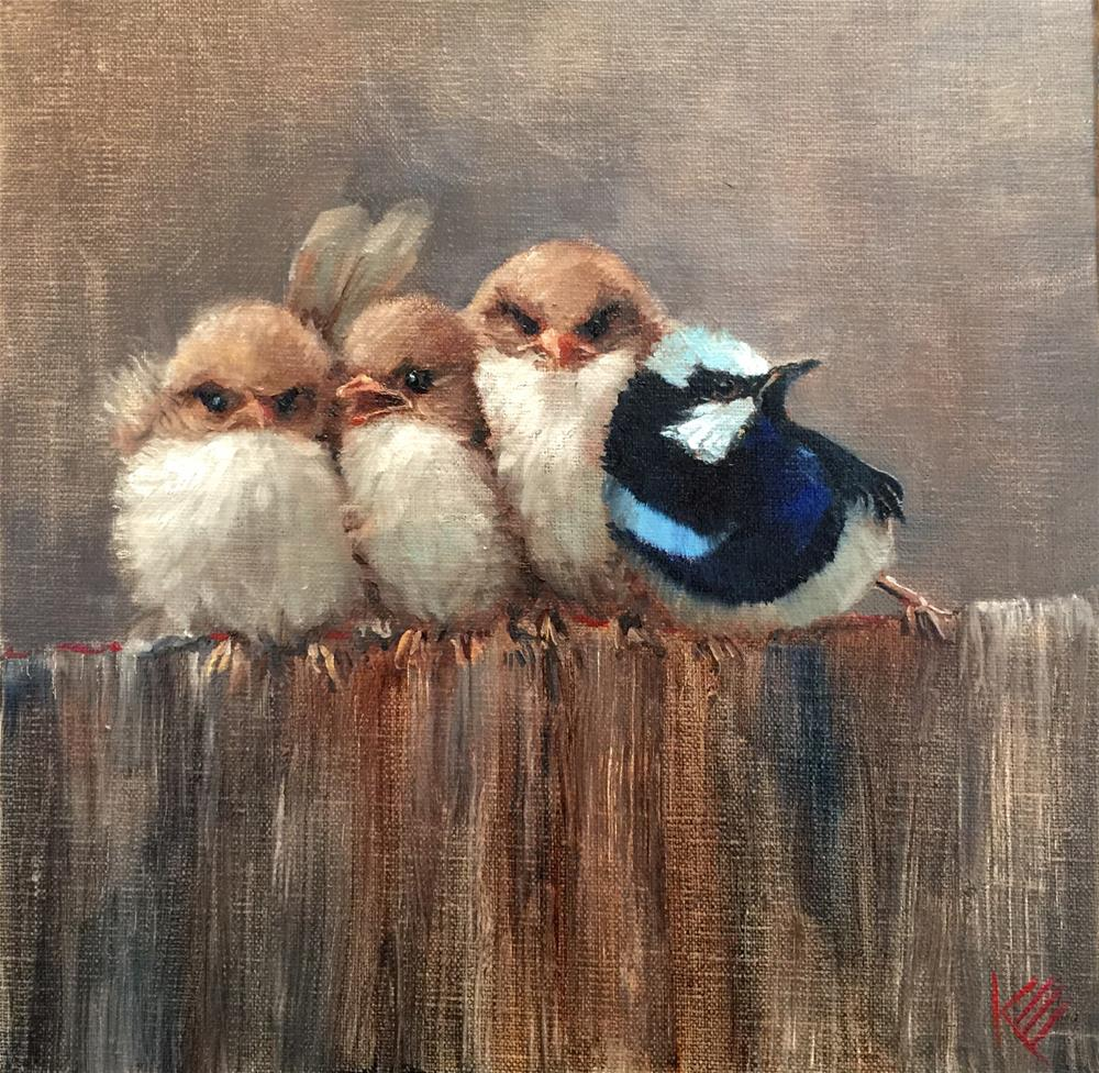 """Pushy"" original fine art by Krista Eaton"