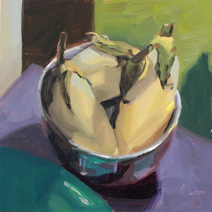 """White Eggplant"" original fine art by Nealy May Riley"