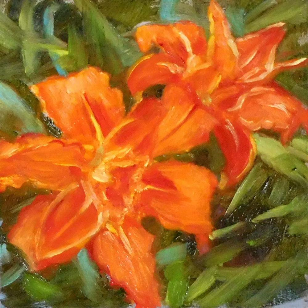 """Day Lilies"" original fine art by Cietha Wilson"