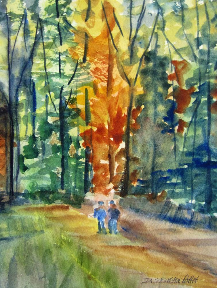 """A Walk Through the Woods"" original fine art by Dolores Pettit"