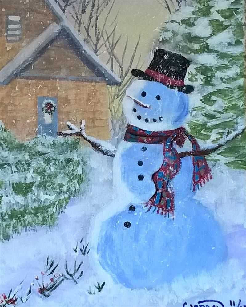 """A Christmas Snow"" original fine art by Cindy Jensen"
