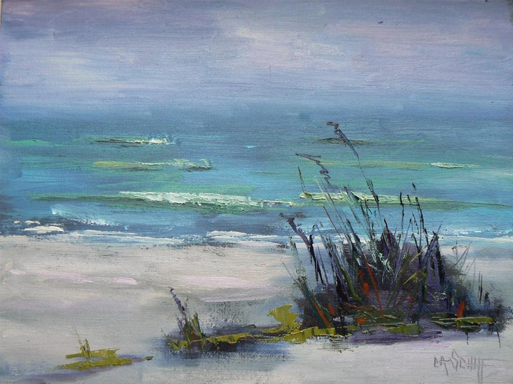 """Daily Painting, Oil, The Beach at Sanibel, 6x8"" original fine art by Carol Schiff"
