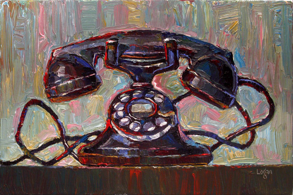 """Old Western Electric Telephone"" original fine art by Raymond Logan"