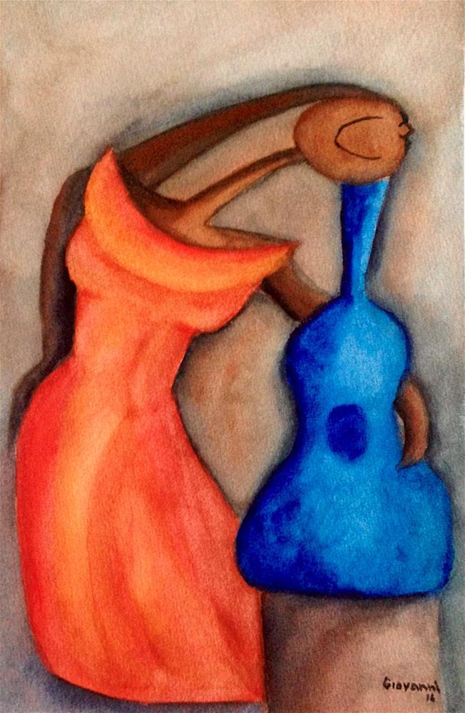"""Beautiful guitar I"" original fine art by Giovanni Antunez"