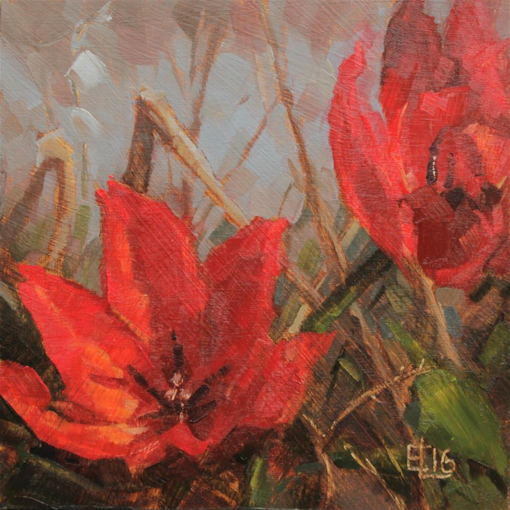 """Wild Tulips"" original fine art by Emilia Leinonen"