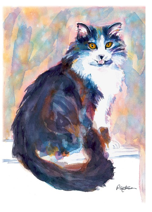 """Sitting Pretty"" original fine art by Pamela Gatens"