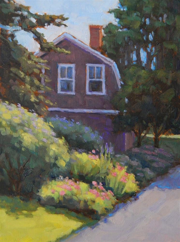 """Summer Garden, Maine"" original fine art by Lisa Kyle"
